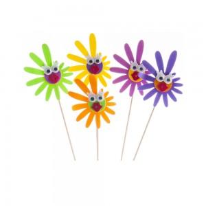 DECORAZIONI PRETTY FLOWERS SU BASTONCINO 50 PEZZI
